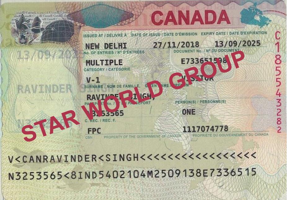 RAVINDER CANADA VISA